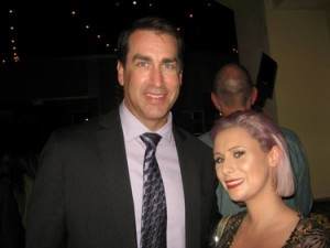Carolyn Roper and Rob Riggle