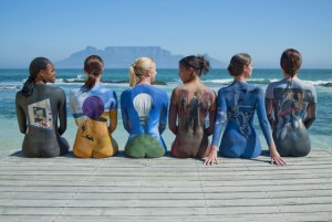 Carolyn Roper Beach Catalogue body painting