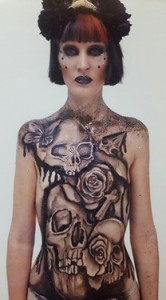 Carolyn Roper skull body paint