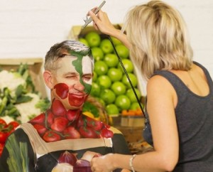 Body painting Carolyn Roper Gary Lineker