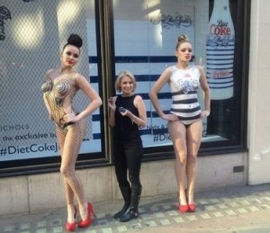 Body painting Carolyn Roper Diet Coke