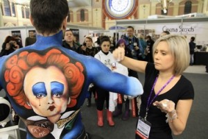 Carolyn Roper body painting Imats