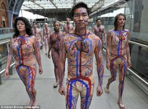 Celebrity body painting female bodies