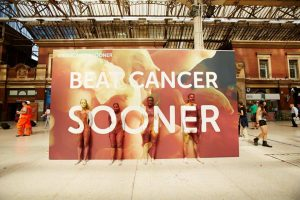 The CRUK Human Billboard at Victoria Station