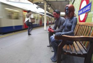 Mystique and Azazel at Sloane Square