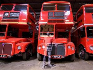 London bus body painting