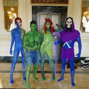 Heroes and Villians body painting